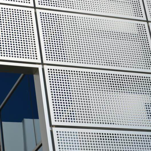 Perforated Aluminum Panels : Metal facade curtain wall exterior decoration